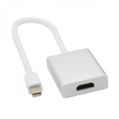Mini DisplayPort DP Male to HDMI Female 1.3 Adapter Support Audio for Macbook Sliver Shell