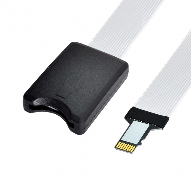 Micro-SD TF Memory Card Kit Male to SD Female Extension Soft Flat FPC Cable Extender 25cm